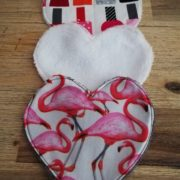 "Lot de 3 lingettes coeur lavables ""Girly"""